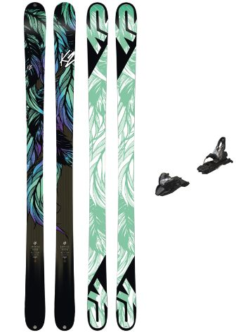 K2 Empress 159 + Free Ten 85mm blk/wht 2018 Conjunto freeski