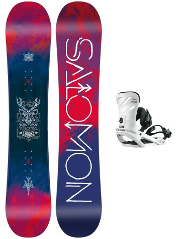 Salomon Lotus 151 + Rhythm White M 2018 Snowboard Set