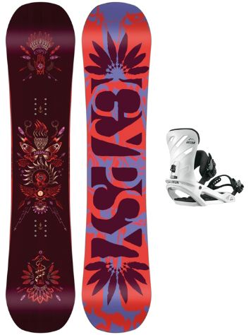 Salomon Gypsy Grom 138 + Rhythm 2018 Girls Conjunto snowboard