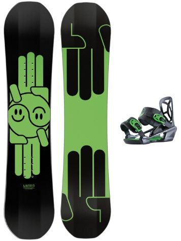 Bataleon Mini Shred 110 + Mini Shred Bdg 2018 Snowboard Set
