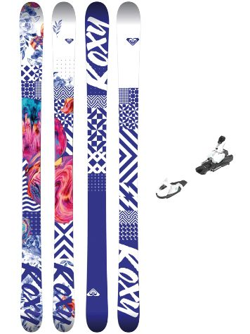 Roxy Bella 140 + L7 EasyTrack 2018 Girls Freeski-Set