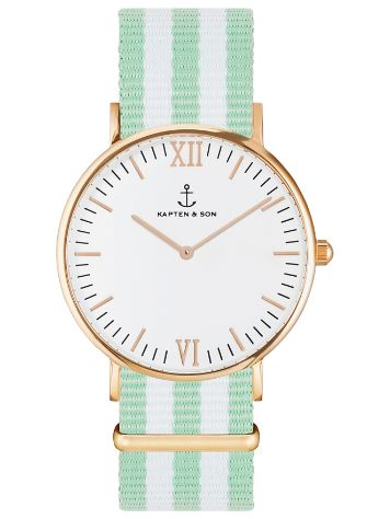 Kapten&Son Campina Summergreen White 36mm Horloge