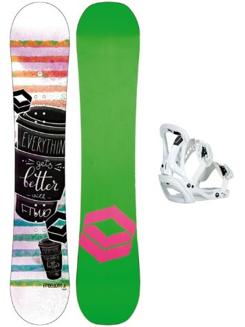 FTWO Freedom 143 + Sonic M Wht 2018 Girls Snowboard set