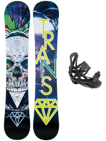 TRANS Pirate 159 + Team L Blk 2018 Snowboard set
