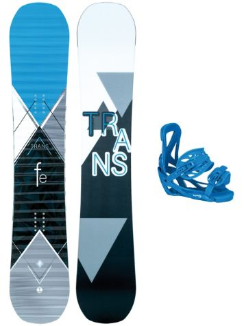 TRANS FE Rocker 163W + Team L Blue 2018 Snowboard Set
