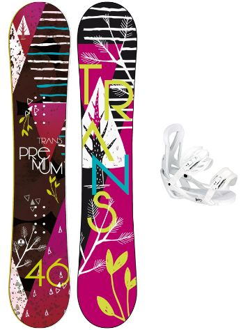TRANS Premium 152 + Team Girl M Wht 2018 Snowboard set