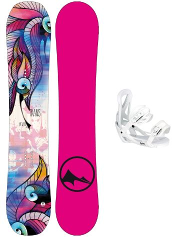 TRANS FR Wood 143 + Team Girl M Wht 2018 Snowboard set