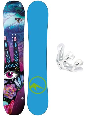 TRANS LTD 143 + Team Girl M Wht 2018 Snowboard Set