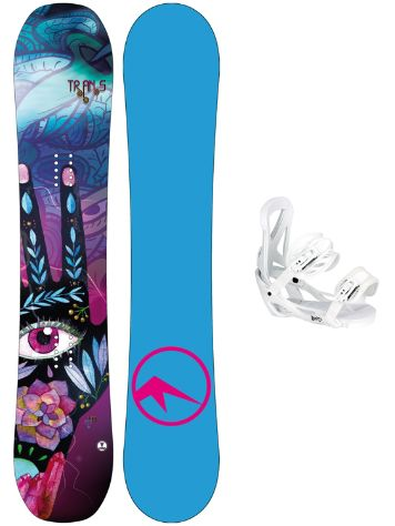 TRANS LTD 143 + Team Girl M Wht 2018 Conjunto snowboard