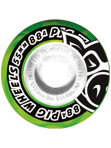 Pig Wheels Street Cruisers Green Green Swirl 88A 55mm Wielen