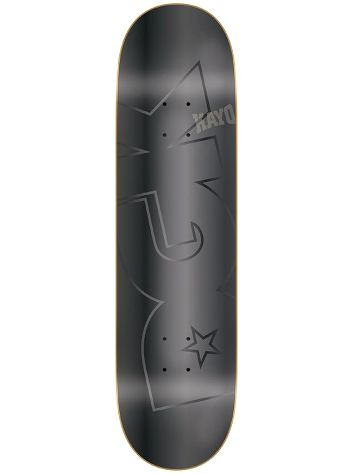 "DGK Polished Black Foil 8.25"" Skateboard Dec"