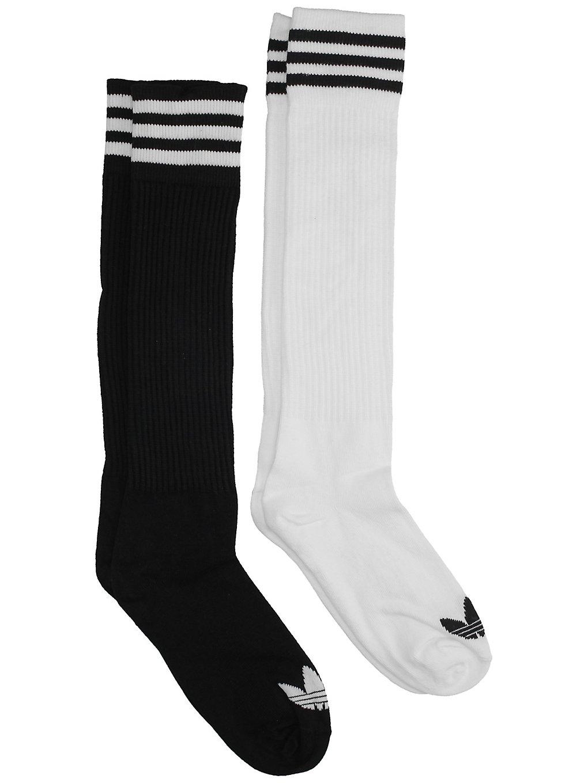Image of adidas Originals Solid Knee 2Pk Socks