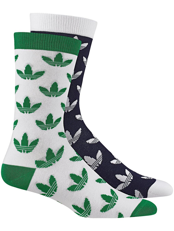 Image of adidas Originals Thin Crew Trefoil 2Pk Socks