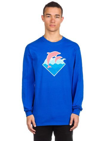 Pink Dolphin Wave Puff Print T-Shirt