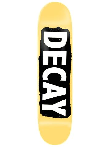 "Decay Torn Yellow Foil 8.0"" Skateboard Deck"